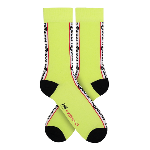 FUN X Fiorucci Unisex Racing Stripe Crew - Fun Socks