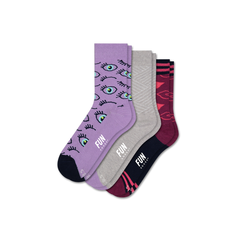 Girl's Eyes 3 Pack - Fun Socks