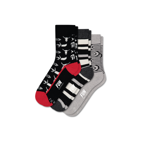 Boys' Fossil 3 Pack - Fun Socks