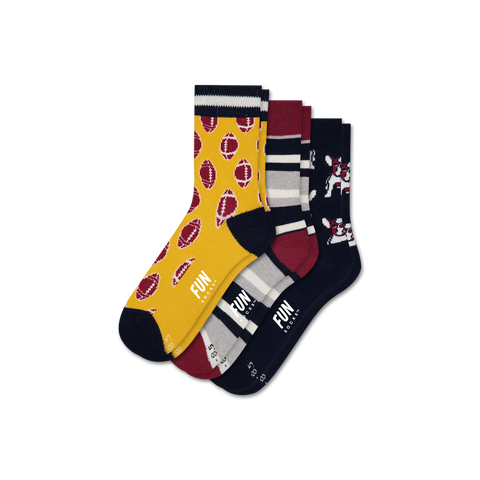 Boys' Football 3 Pack - Fun Socks