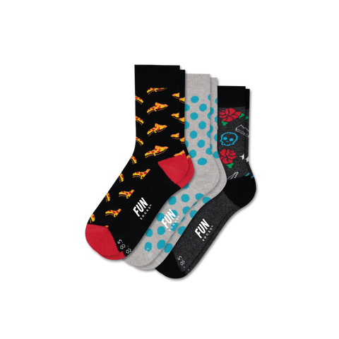 Boys' Pizza 3 Pack - Fun Socks