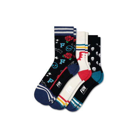 Girls' Rock & Roll 3 Pack - Fun Socks