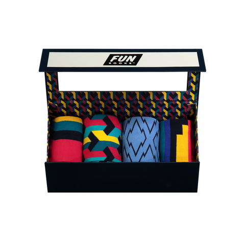 Men's Illusionist 4-Piece Box Set - Fun Socks
