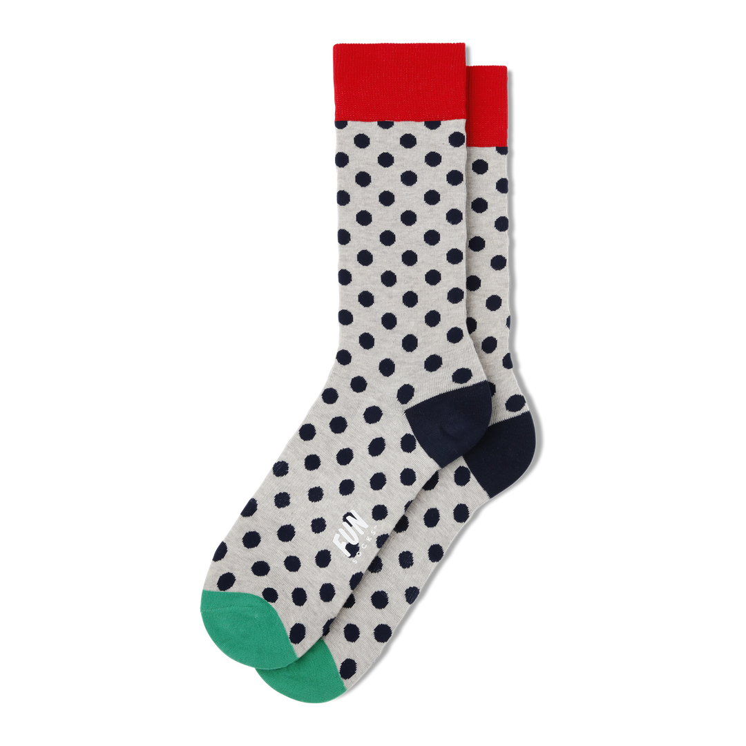 Men's Polka Dot Socks - Fun Socks
