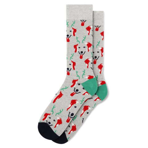 Men's Holiday Dog Socks
