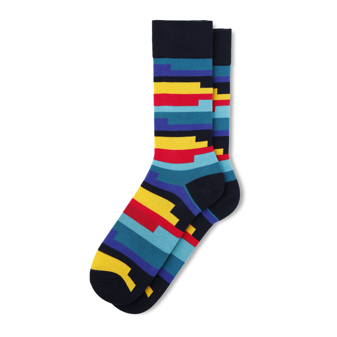Men's Coil Stripe Socks - Fun Socks