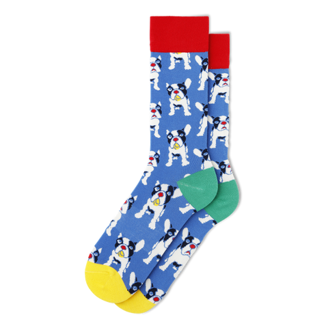 Men's French Bulldog Socks - Fun Socks