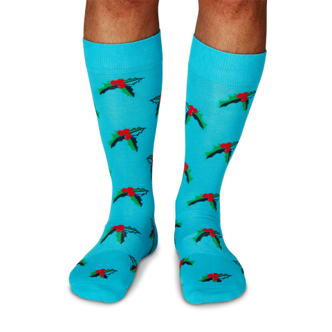 Men's Holiday Mistletoe Socks