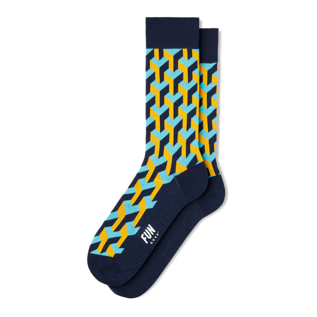 Men's Illusionist Dress Socks - Fun Socks