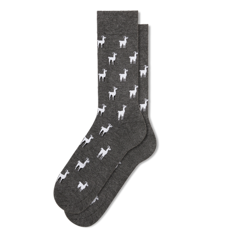 Men's Llama Dress Socks - Fun Socks
