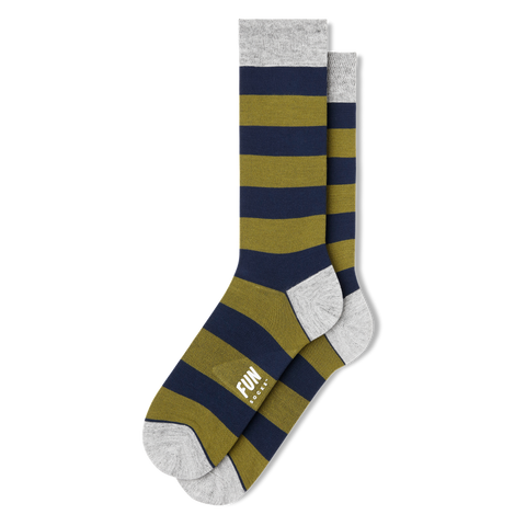 Men's Rubgy Stripe Dress Socks - Fun Socks