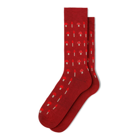 Men's Mushroom Dress Socks