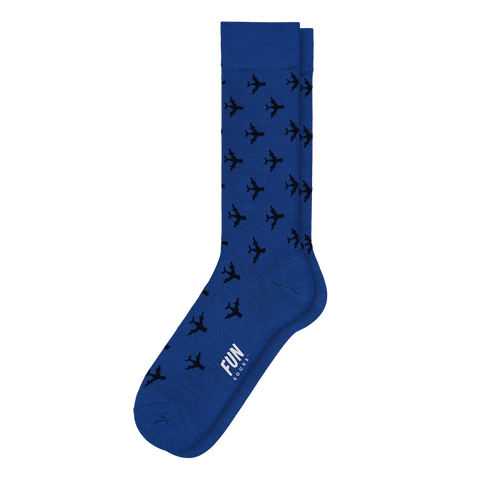 Men's Airplane Dress Socks - Fun Socks
