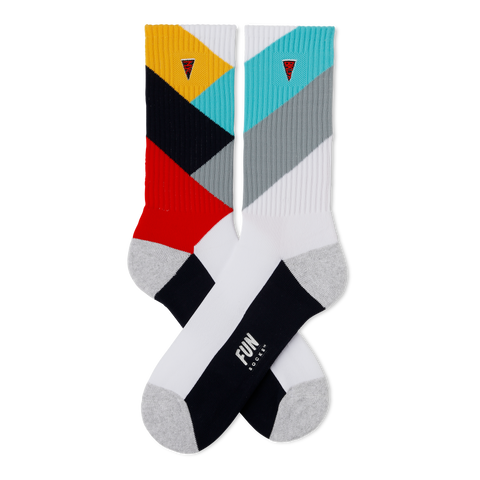 Men's Chevron Athletic Socks - Fun Socks