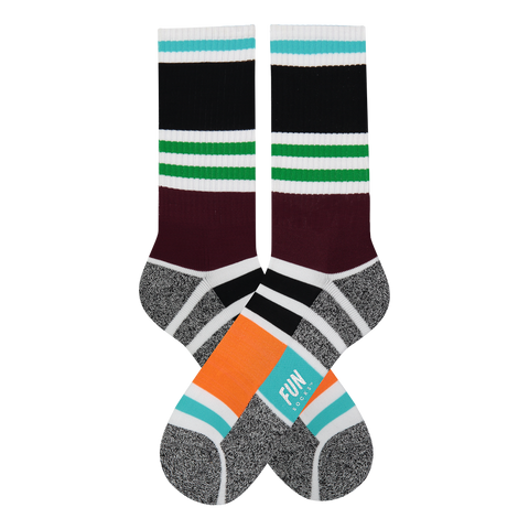 Men's Stripe Athletic Socks - Fun Socks