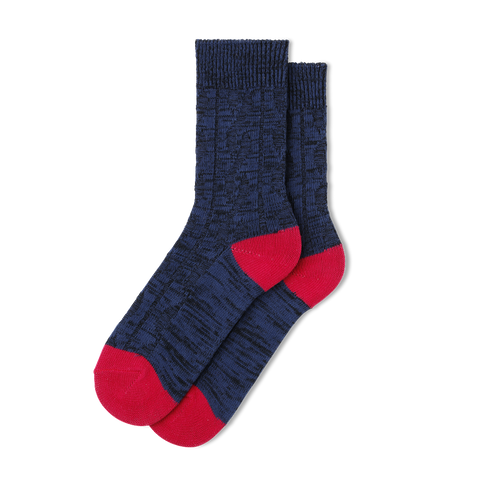 Men's Cable Rib Wool Socks - Fun Socks