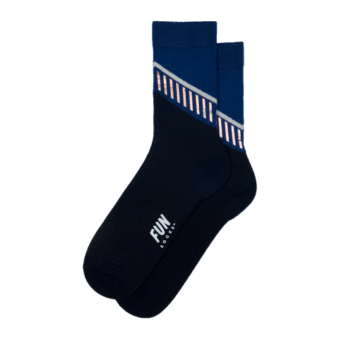 Women's Diagonal Strip Socks - Fun Socks