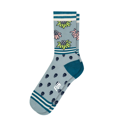 Women's Skull & Floral Socks - Fun Socks