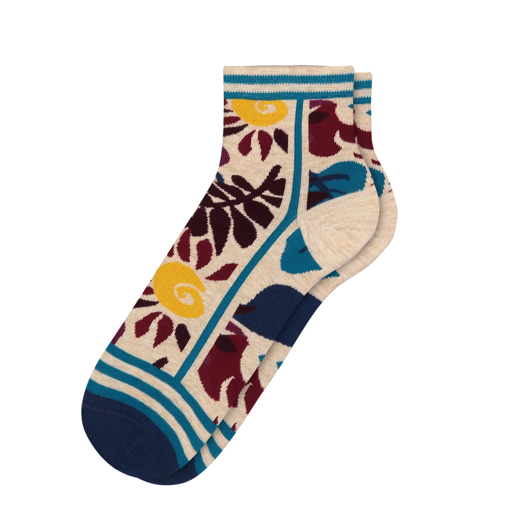 Women's Floral Garden Socks - Fun Socks