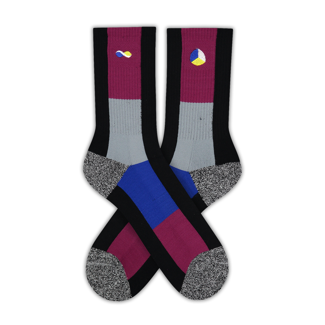 Women's Block Athletic Socks - Fun Socks