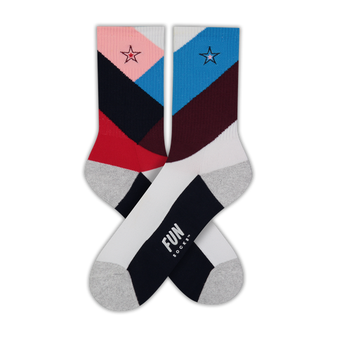 Women's Chevron Athletic Socks - Fun Socks
