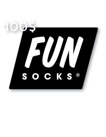 100 Dollar Gift Card - Fun Socks