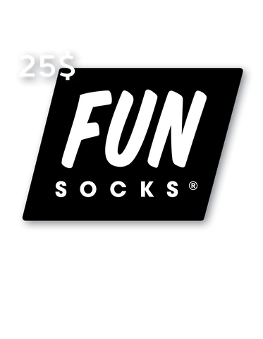 25 Dollar Gift Card - Fun Socks