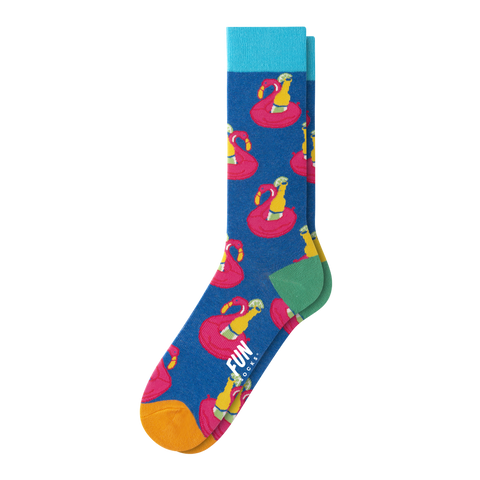 MEN'S FLOATING FLAMINGO SOCKS
