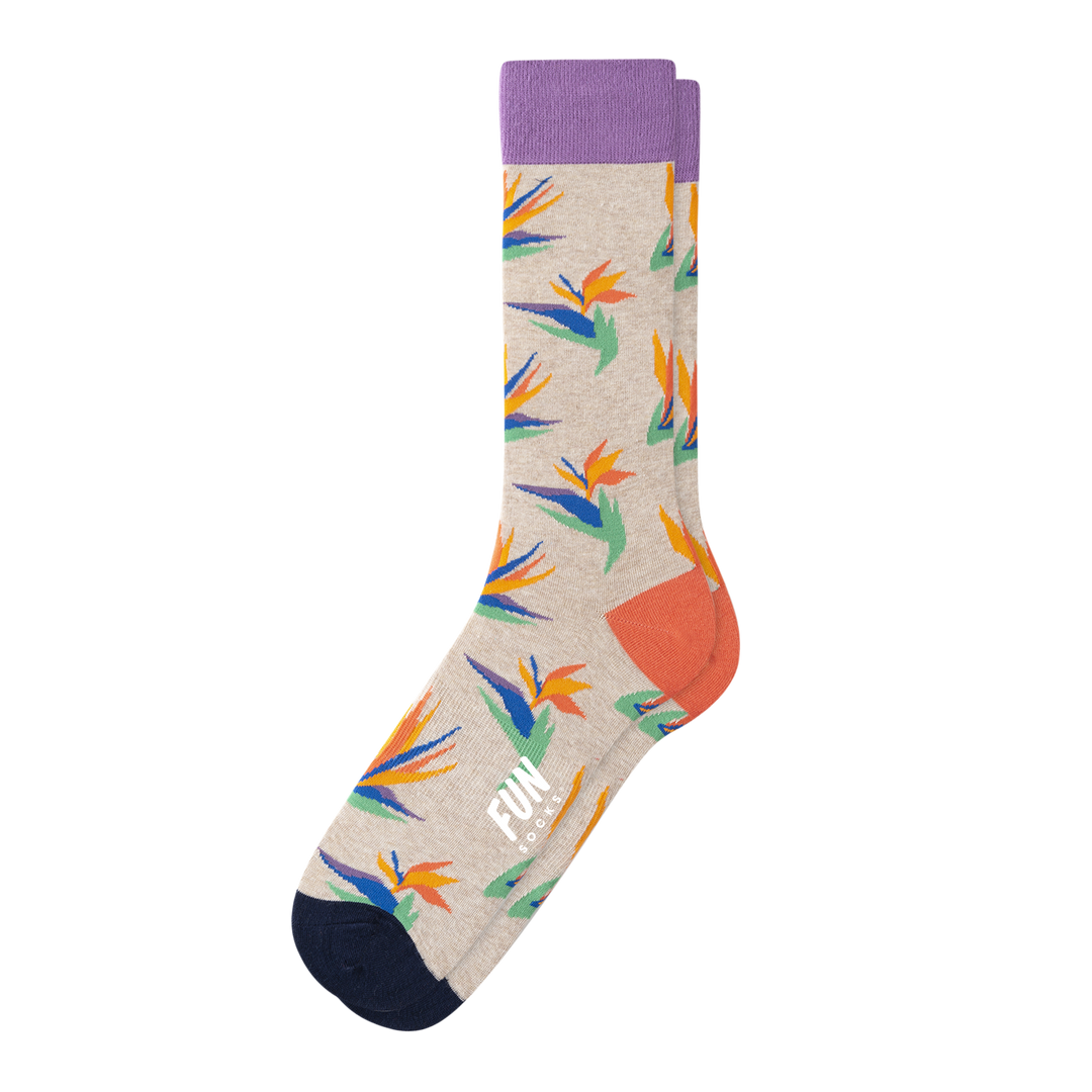 MEN'S TROPICAL FLOWER SOCKS