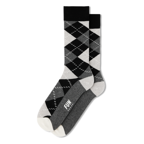 mens colorful grey black white argyle pattern socks