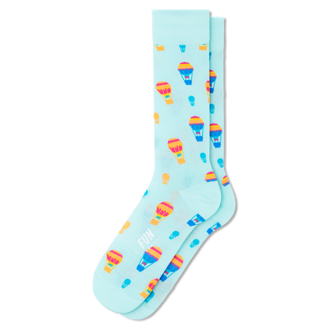 Men's Hot Air Balloon Socks - Fun Socks