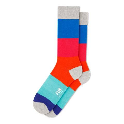 Men's Color Block Socks - Fun Socks