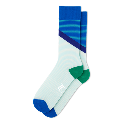 Men's Stripe Block Socks - Fun Socks
