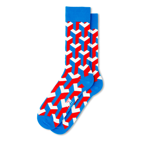 Men's Illusionist Geo Socks - Fun Socks