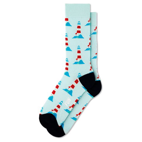 Men's Lighthouse Socks - Fun Socks