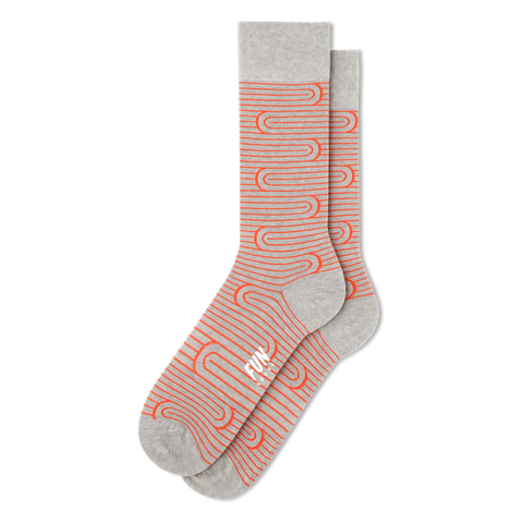 Men's Spiral Stripe Socks - Fun Socks