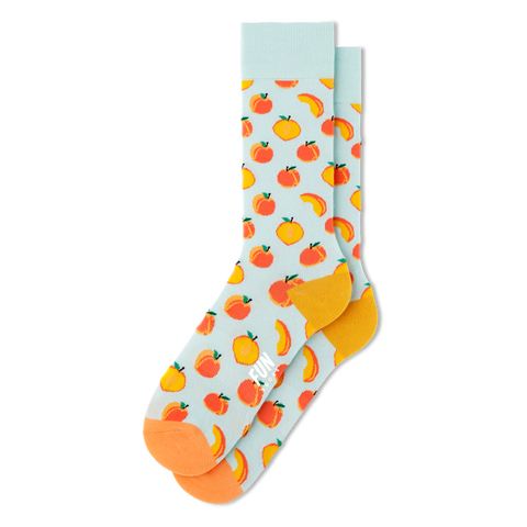 Men's Peach Fruit Socks - Fun Socks