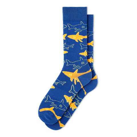 Men's Shark Fish Socks - Fun Socks