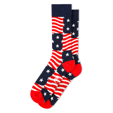 Men's Stars and Stripes Americana Socks - Fun Socks