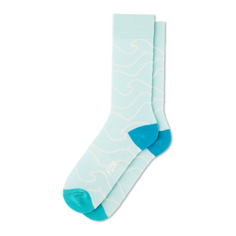 Men's Waves Socks - Fun Socks
