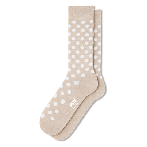 Men's Polka Dot Dress Socks - Fun Socks