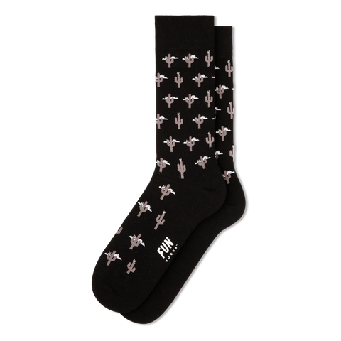 Men's Cactus Dress Socks - Fun Socks