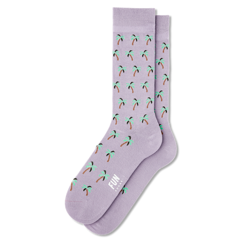 Men's Palm Tree Dress Socks - Fun Socks