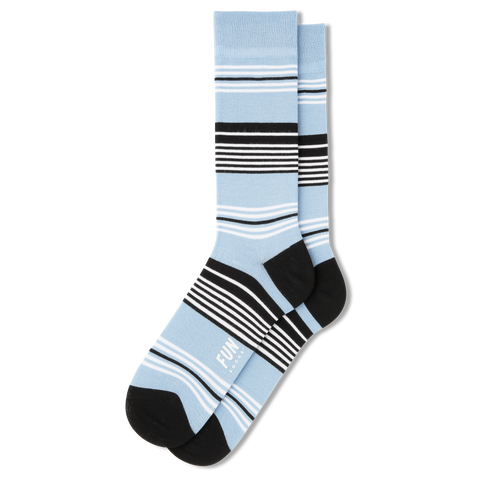 Men's Mono Stripe Dress Socks - Fun Socks