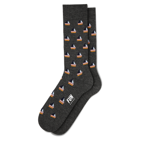 Men's Sail Boat Dress Socks - Fun Socks