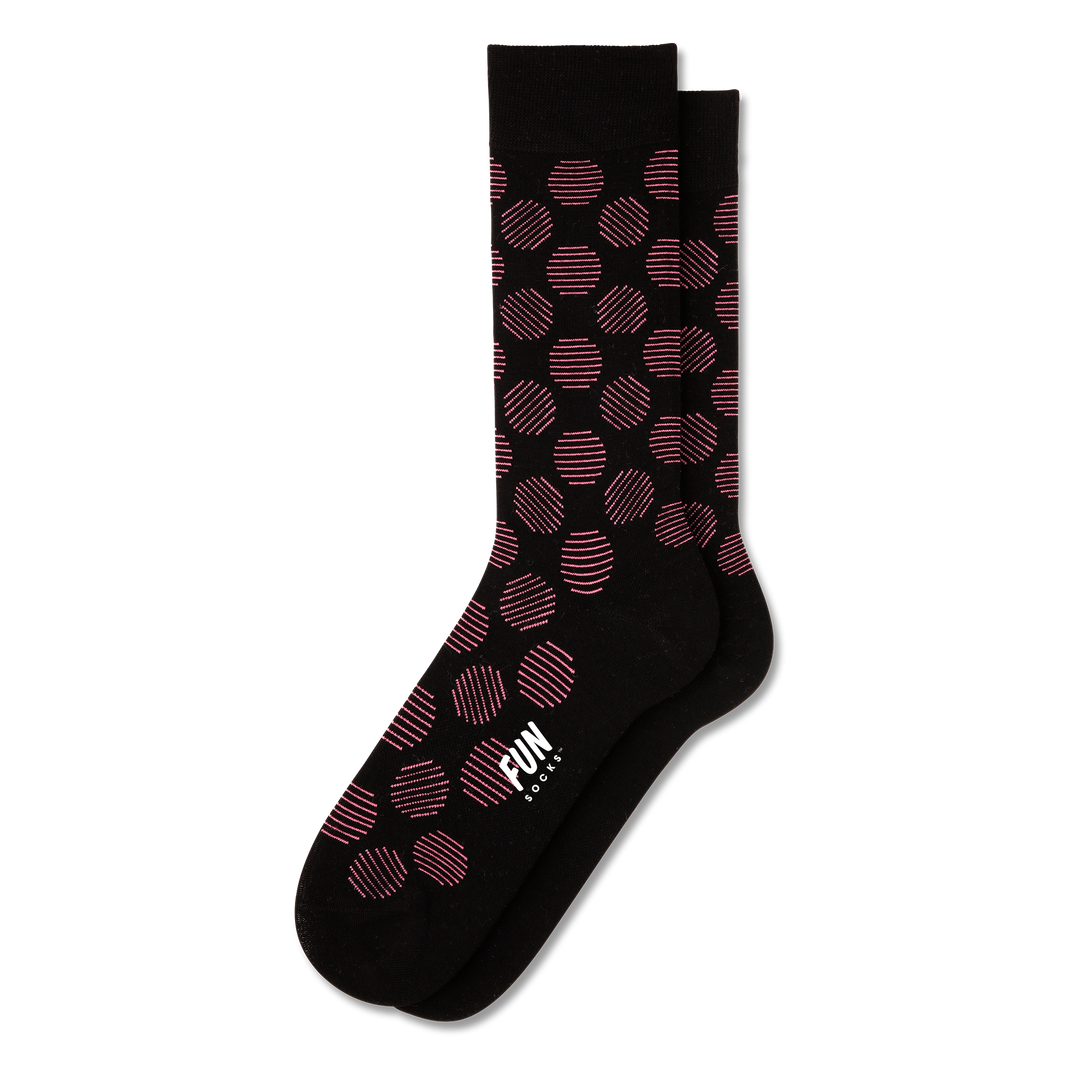 Men's Big Polk Dot Dress Socks - Fun Socks