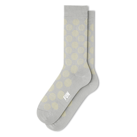 Men's Big Polka Dot Dress Socks - Fun Socks