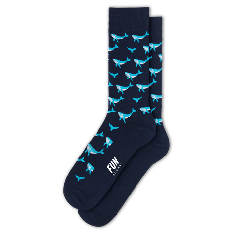 Men's Whale Dress Socks - Fun Socks