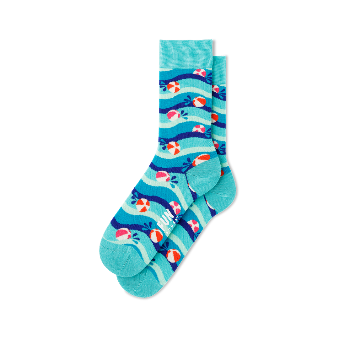 Women's Beach Balls Socks - Fun Socks