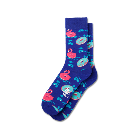 Women's Flamingo Float Socks - Fun Socks